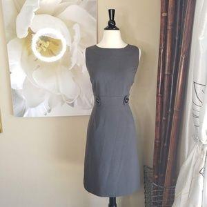Tahari ~ Grey Dress w/ Buttons ~ Size 8